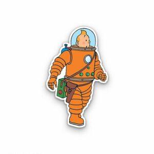 استیکر لپتاپ تن تن فضانورد