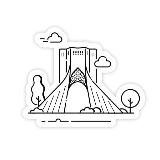 استیکر برج استیکر