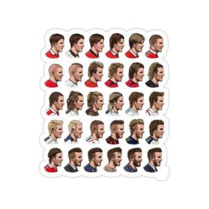 استیکر رئال مادرید – تمام مدل موهای دیوید بکهام!