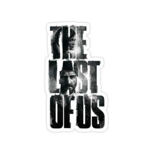استیکر The Last of Us - تایپوگرافی سیاه سفید