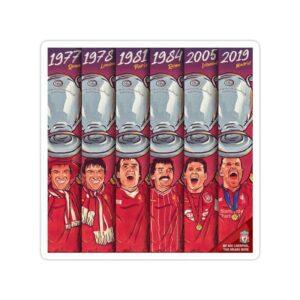 استیکر لیورپول - تمامی قهرمانیهای UCL