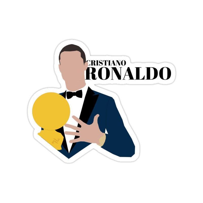 استیکر رئال مادرید – پنجمین توپ طلا رونالدو