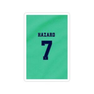 استیکر رئال مادرید - شماره هازارد در رئال مادرید