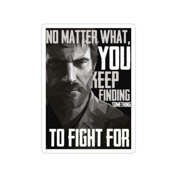 استیکر The Last of Us - جوئل تایپوگرافی