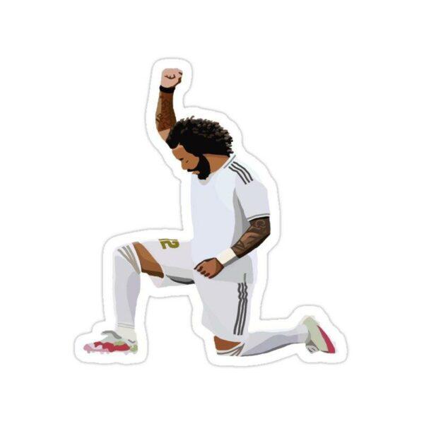 استیکر رئال مادرید – مارسلو احترام به جرم فلوید - black lives matter