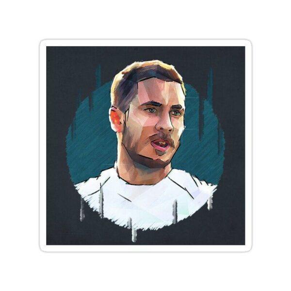 استیکر رئال مادرید – طراحی چهره هازارد