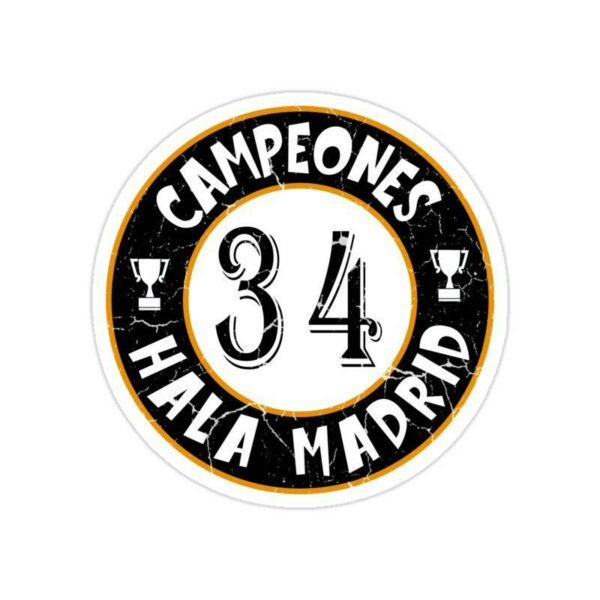 استیکر رئال مادرید – سی و چهارمین قهرمانی در لالیگا