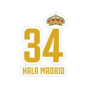 استیکر رئال مادرید – ۳۴ مین قهرمانی در لالیگا