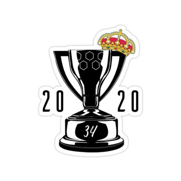 استیکر رئال مادرید – قهرمانی در لالیگا در فصل ۲۰۱۹/۲۰