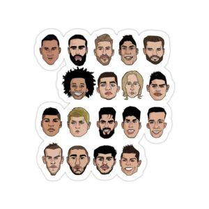 استیکر رئال مادرید - بازیکنان فصل ۲۰۱۷ باشگاه