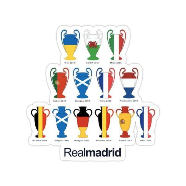 استیکر رئال مادرید – قهرمانیهای رئال مادرید در UCL
