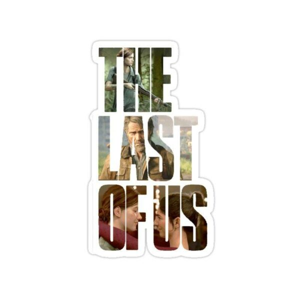 استیکر The Last of Us - تایپوگرافی
