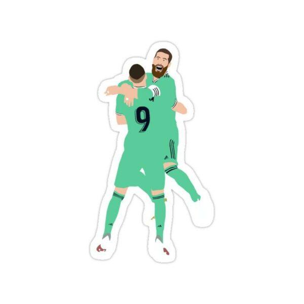 استیکر رئال مادرید – راموس و بنزما