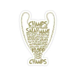 استیکر لیورپول - ششمین قهرمانی در لیگ قهرمانان