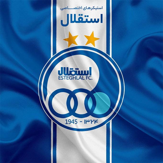 استیکر لپتاپ استقلال تهران