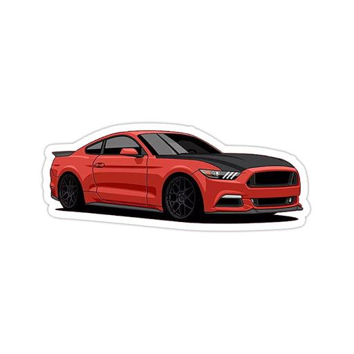 استیکر فورد - Ford Mustang
