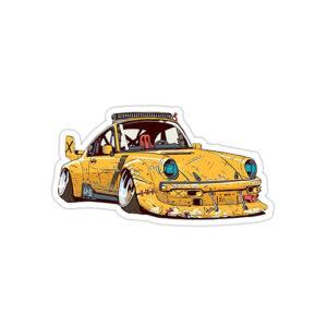 استیکر پورشه - Yellow frog 911