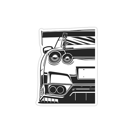 استیکر نیسان - Nissan gtr
