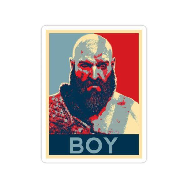 استیکر خدای جنگ - پیری کریتوس