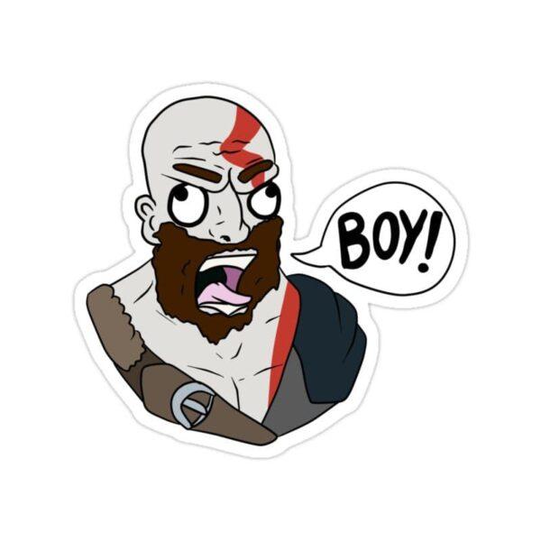 استیکر خدای جنگ - کاریکاتور