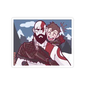 استیکر خدای جنگ - پدر و پسری