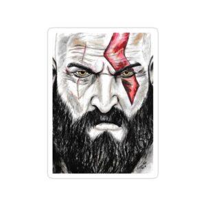 استیکر خدای جنگ - مرد زخمی