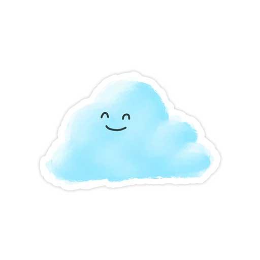 استیکر مینیمال - ابر خندان
