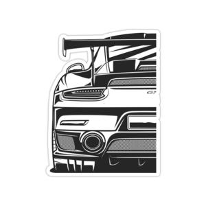 استیکر پورشه - Porsche GT3r back side