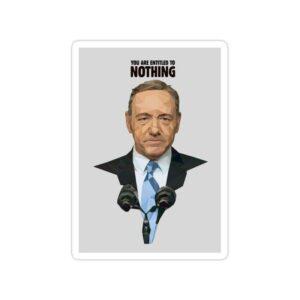 استیکر house of cards - تایپوگرافی فرانک