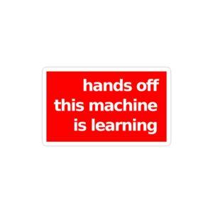 استیکر لپ تاپ دستت رو بکش این ماشین داره یاد میگیره!