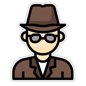 استیکر لپ تاپ - آقای کارگاه