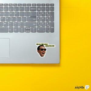 استیکر لپ تاپ معلومه که نه روی لپتاپ