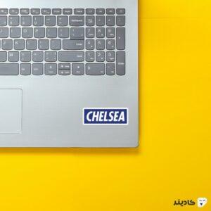 استیکر لپ تاپ چلسی روی لپتاپ