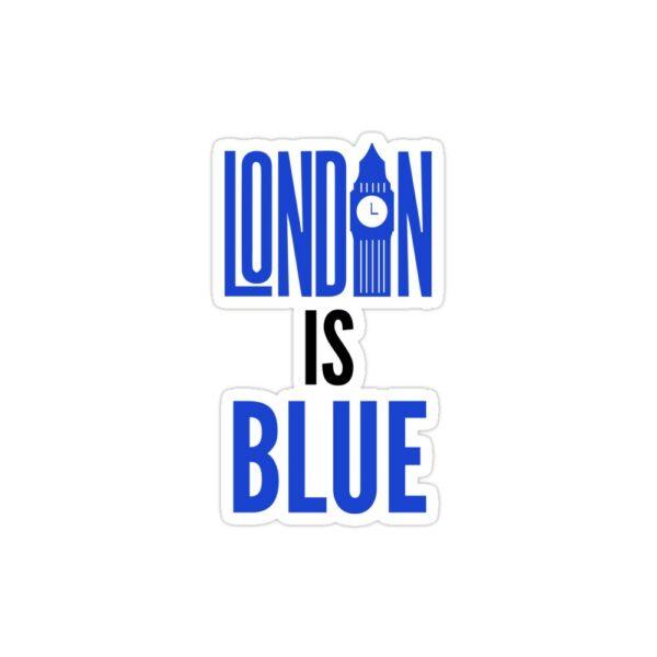 استیکر لپ تاپ رنگ لندن آبیه