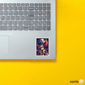 استیکر لپ تاپ طرح هنری رونالدینیو روی لپتاپ
