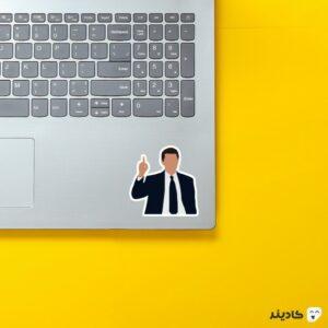 استیکر لپ تاپ جردن روی لپتاپ