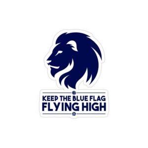 استیکر لپ تاپ پرچم آبی رو برافراشته نگه دار