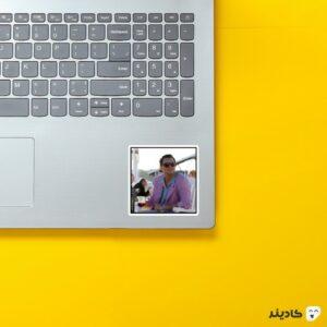 استیکر لپ تاپ لئوناردو دیکاپریو روی لپتاپ