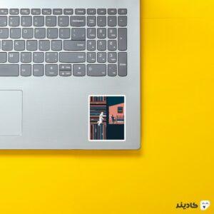 استیکر لپ تاپ بمان روی لپتاپ