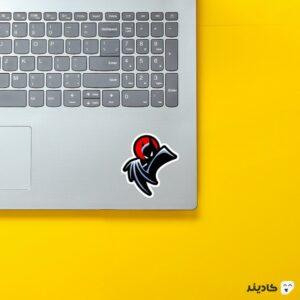 استیکر لپ تاپ لوگو معروف بتمن روی لپتاپ