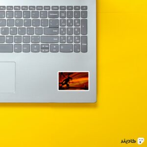 استیکر لپ تاپ تو نمیتونی عبور کنی روی لپتاپ