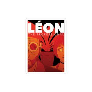 استیکر لپ تاپ پوستر کارتونی لئون حرفه ای