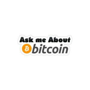 استیکر لپ تاپ از من درباره بیت کوین بپرسید!