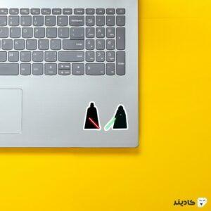 استیکر لپ تاپ همانند پدرم روی لپتاپ