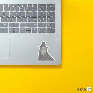 استیکر لپ تاپ جادوگر! روی لپتاپ