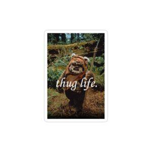 استیکر لپ تاپ thug life