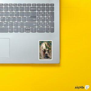 استیکر لپ تاپ صحرای کربلا - امام حسین (ع) روی لپتاپ
