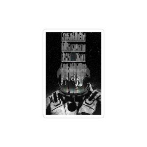 استیکر لپ تاپ پوستری از Interstellar