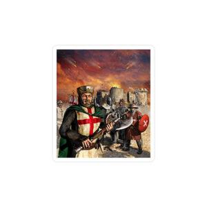 استیکر لپ تاپ جنگهای صلیبی - جمع خوبا جمعه!