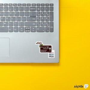 استیکر لپ تاپ ولنجک - چمران مقصد همیشگی! روی لپتاپ